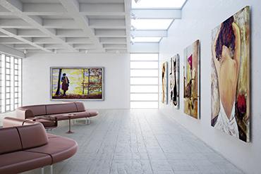 Eine eindrucksvolle Gemälde-Galerie? Mit Großformatdrucken von Fariplay Service ist das kein Problen.