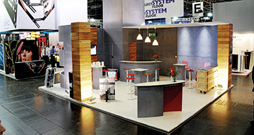 Ein modularer Messestand von Fairplay Service