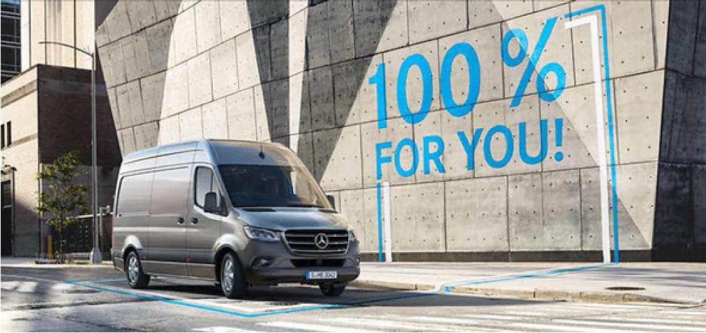 100% für you heißt die Mercedes-Benz-Kampagne. Fairplay unterstützt MB am POS.